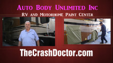 2008 Damon Astoria Motorhome Review and paint repair video from www.thecrashdoctor.com photo
