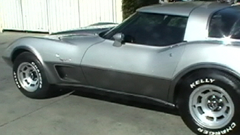 1978 corvette silver anniversary edition custom complete paint jobs http://www.thecrashdoctor.com photo