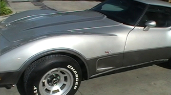 1978 corvette custom paint job silver annerivsary classic from www.thecrashdoctor.com photo