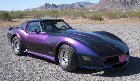 1982 vette custom cameleon paint job from thecrashdoctor.com