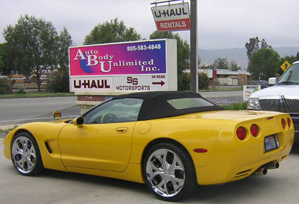 2000 Corvette convertible auto body collision center reviews simi valley www.thecrashdoctor.com