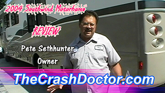 large motorhom body damage repair and paint consumer review video from www.thecrashdoctor.com