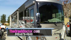 2008 winnebago journey auto body fiberglass repair and paint from www.thecrashdoctor.com photograph