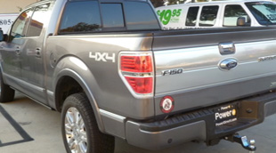 2010 Ford F150 Platinum pickup truck damage repair and paint after photo rear from http://www.thecrashdoctor.com