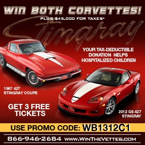 Corvette Dream give a way contest for charity by www.thecrashdoctor.com