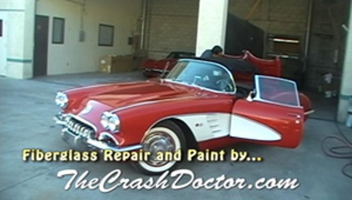 1960 Classic Chevy Corvette Fiberglass Repair and Paint