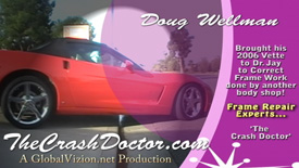 Corvette custom painting and body work video from www.thecrashdoctor.com