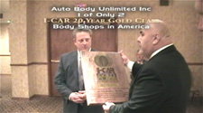 I-CAR 20 Year Gold Class award winner Jay Schoen Auto Body Unlimited Inc www.thecrashdoctor.com